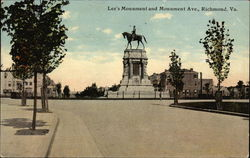 Lee's Monument and Monument Ave