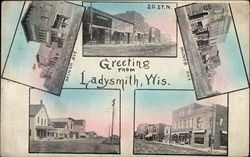 Greeting from Ladysmith, Wis Postcard