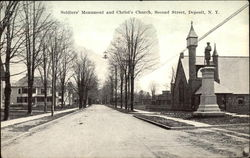 Soldiers' Monument and Christ's Church, Second Street