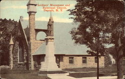 Soldiers' Monument and Episcopal Church