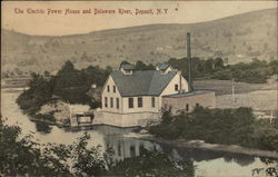 The Electric Power House and Delaware River