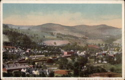 """Scene Along The Erie Railroad"", Birds-eye-view of Town"