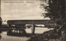 Wooden Bridge and Delaware River