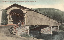 Old Wooden Bridge Over the Delaware River
