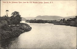 View of the Delaware River from the Old Wooden Bridge