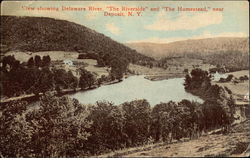 "View Showing Delaware River, ""The Riverside"" and ""The Homestead"""