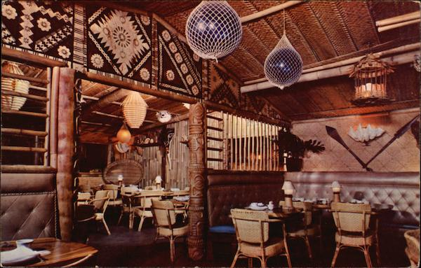 The Tiki Room Looking Into the Garden Room at Trader Vic's San Francisco California