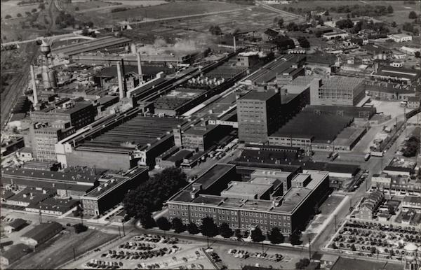 Aerial Photograph Of The Floor Division Factory Armstrong