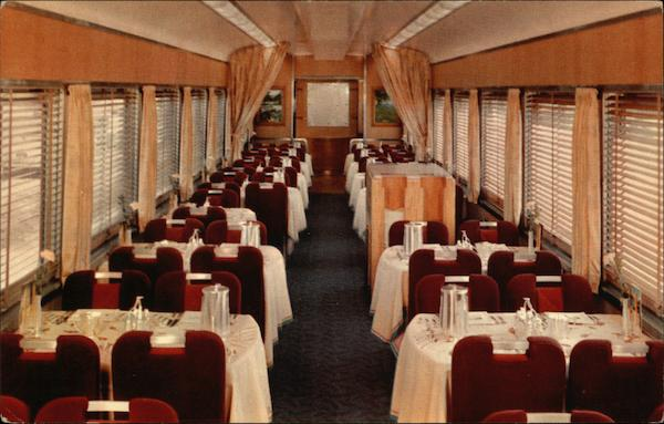Dining car on Shasta Daylight Trains, Railroad