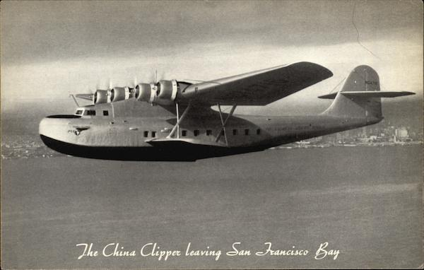 The China Clipper Leaving San Francisco Bay Aircraft