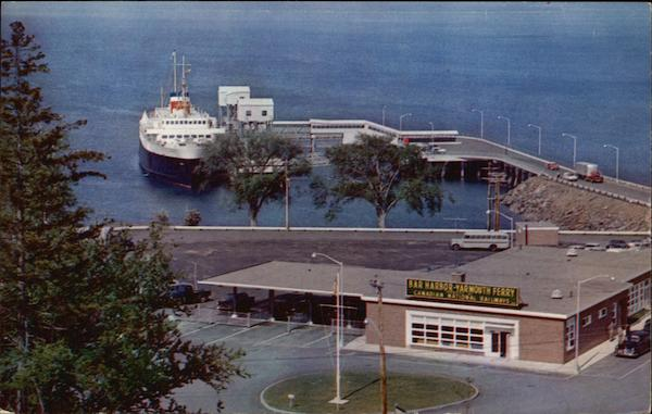 Ferry Terminal With M.V. Bluenose at Dock Bar Harbor Maine