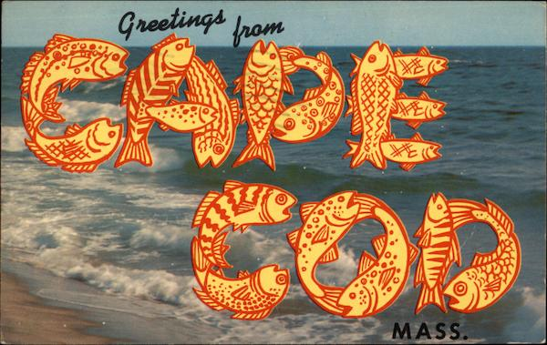 Greetings from Cape Cod, Mass Massachusetts Large Letter