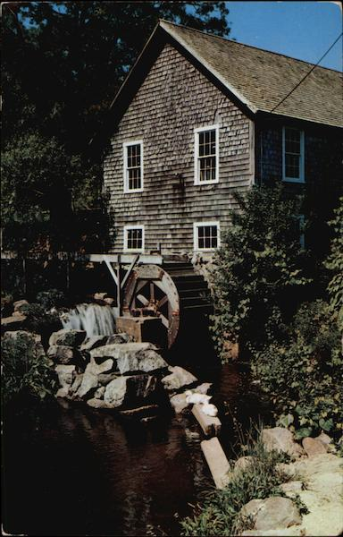 Old Grist Mill, Stony Brook at Brewster Cape Cod Massachusetts