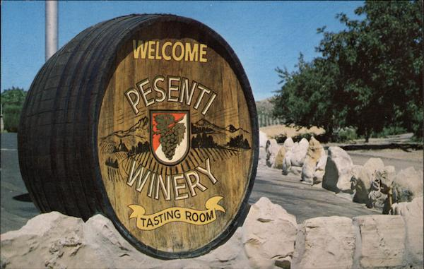 Entrance to the Presenti Winery and Tasting Room on Vineyard Drive Templeton California