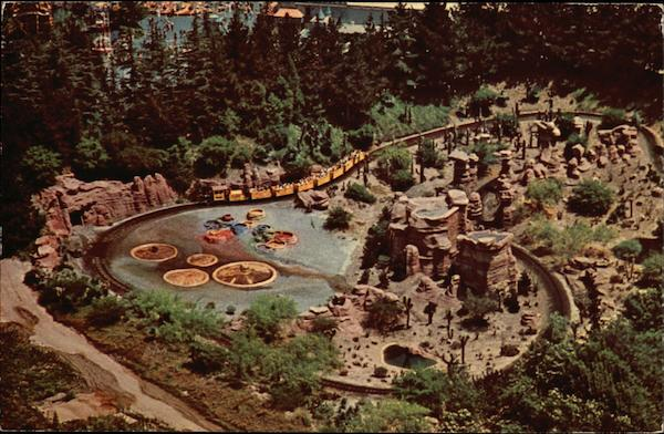 Aerial View of Disneyland Anaheim California