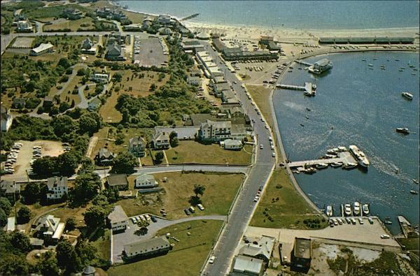Aerial View of Beach and Yacht Anchorages Watch Hill Rhode Island