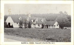 Barns, Chenango Valley State Park Postcard
