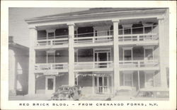 Red Brick Building Postcard
