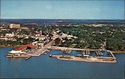 Aerial View of City Postcard