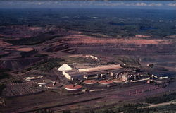 Open Pit Iron Ore Mine In Michigan's Upper Peninsula