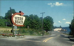 Entrance to Weirs Beach at lake Winnipesaukee