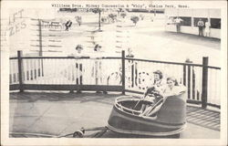 "Williams Bros. Midway Concession & ""Whip"", Whalom Park Postcard"