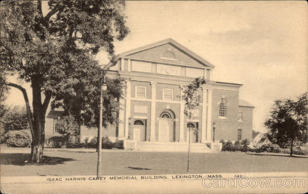 Isaac Harris Carey Memorial Building Lexington Massachusetts