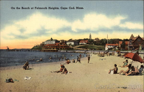 On the Beach at Falmouth Heights Cape Cod Massachusetts
