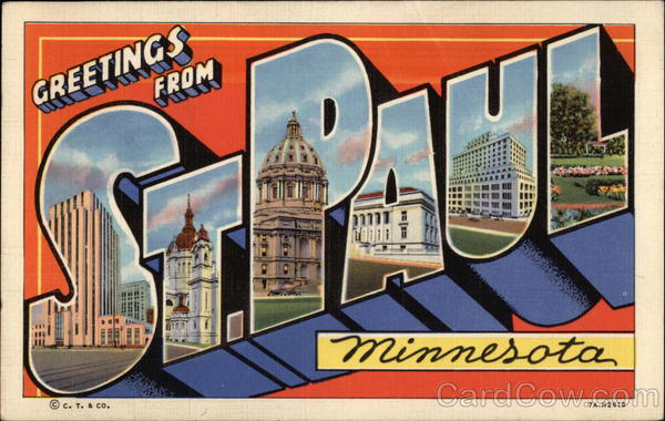Greetings From St. Paul, Minnesota Large Letter