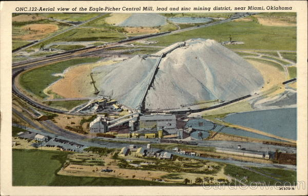 Aerial View of the Eagle-Picher Central Mill, Lead and Zinc Mining District Miami Oklahoma