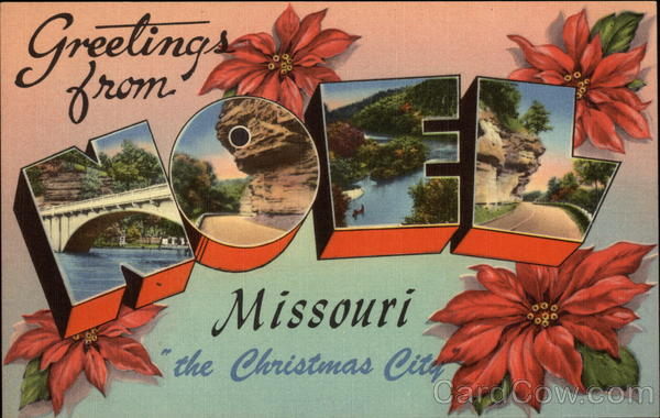 Greetings from the Christmas City Noel Missouri Large Letter