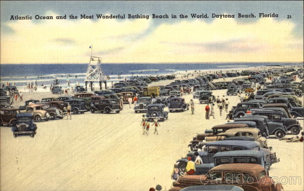 Atlantic Ocean and the Most Wonderful Bathing Beach in the World Daytona Beach Florida