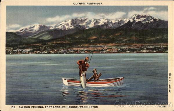 Olympic peninsula salmon fishing port angeles harbor wa for Olympic peninsula fishing report