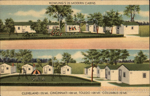 Rowling's 20 modern cabins New California Ohio