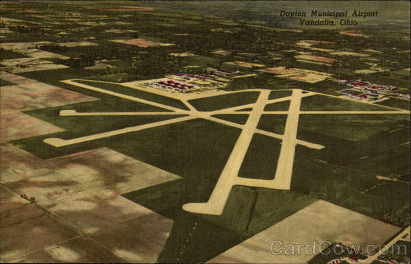 Aerial View of Dayton Municipal Airport Vandalia Ohio
