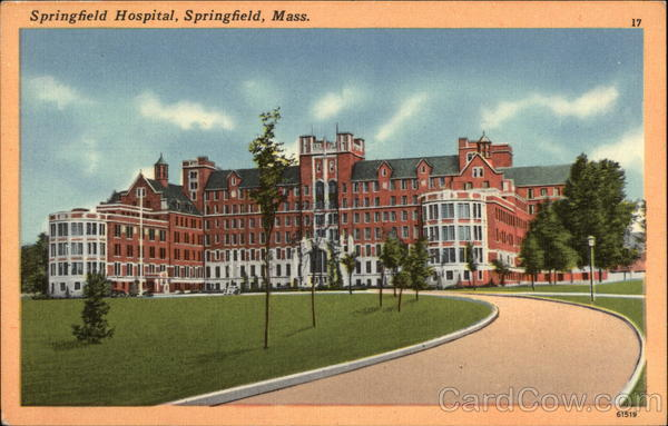 View of Hospital Building Springfield Massachusetts