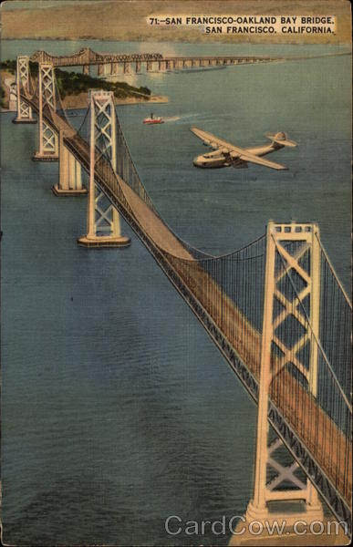 Aerial View of San Francisco-Oakland Bay Bridge California