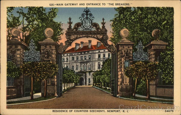 Main Gateway and Entrance to The Breakers Newport Rhode Island