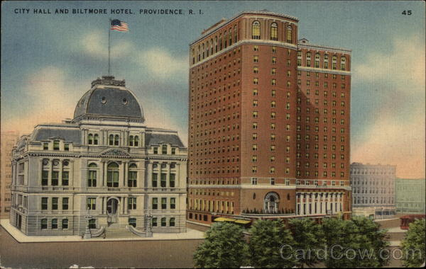 City Hall and Biltmore Hotel Providence Rhode Island