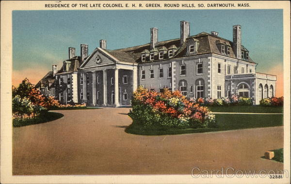 Residence of the late Colonel E. H. R. Green, Round Hills South Dartmouth Massachusetts