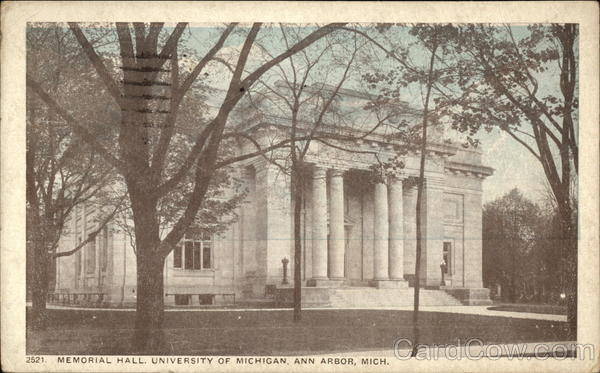 University of Michigan - Memorial Hall Ann Arbor