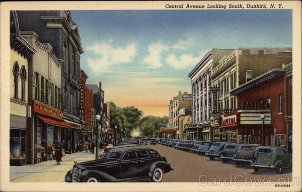 Central Avenue Looking South Dunkirk New York