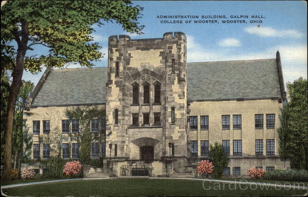 Administration Building, Galpin Hall, College of Wooster Ohio