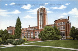 Mary Reed Library, University of Denver Postcard