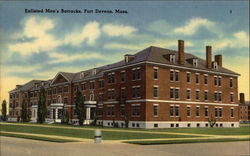 Enlisted Men's Barracks Postcard