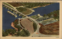 Aerial View of the Approach to Grand River Dam