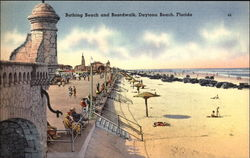 Beautiful Beach and Boardwalk Postcard