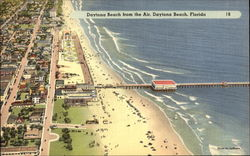 Daytona Beach from the Air Postcard