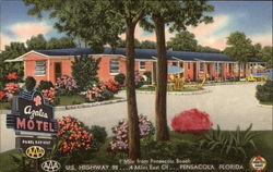 Azalea Motel and Gardens Postcard