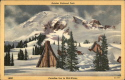 Rainier National Park, Paradise Inn in mid-winter
